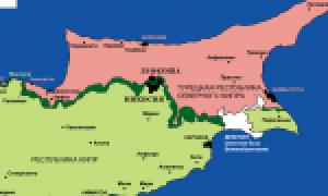 Кипр на карте мира (карта Кипра на русском языке)