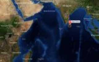 Шри–Ланка на карте мира (карта Шри–Ланки на русском языке)