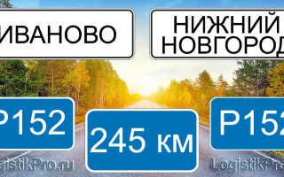 Сколько км от Нижнего Новгорода до Иваново? (на машине, поезде)