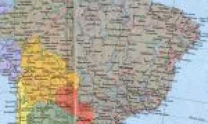 Бразилия на карте мира (карта Бразилии на русском языке)