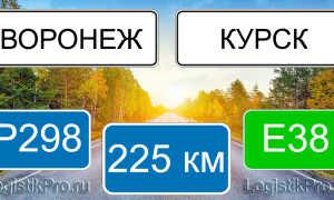 Сколько км от Воронежа до Курска? (на машине, поезде)