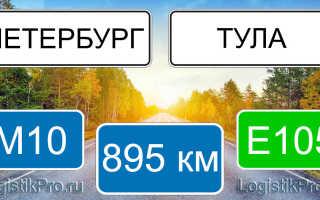 Сколько км от Санкт-Петербурга до Тулы: на машине, поезде