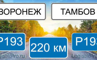 Сколько км от Воронежа до Тамбова? (на машине, поезде)