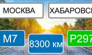 Сколько км от Москвы до Хабаровска? (на машине, поезде, самолете)
