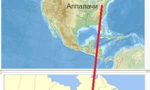 Где находятся Горы Аппалачи (на карте, координаты)