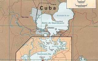 Где находится тюрьма Гуантанамо (на карте, координаты)