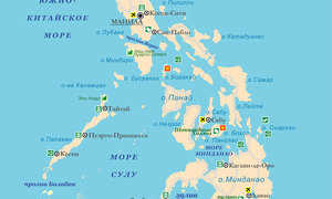 Где находятся Филиппинские острова (на карте, координаты)