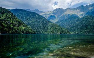 Озеро Рица в Абхазии (11 фото, описание, карта)