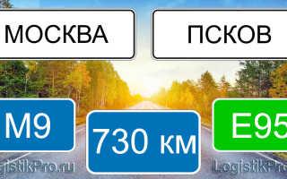 Сколько км от Москвы до Пскова? (на машине, поезде, самолете)