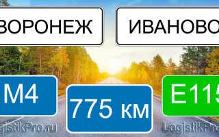 Сколько км от Воронежа до Иваново: на машине, поезде