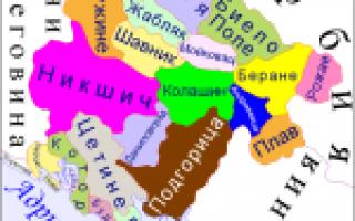 Черногория на карте мира (карта Черногории на русском языке)