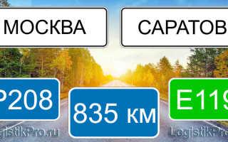 Сколько км от Москвы до Саратова? (на машине, поезде, самолете)