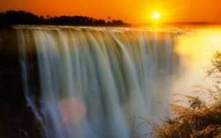 Географические координаты водопада Виктория (широта и долгота)