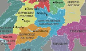 Швейцария на карте мира (карта Швейцарии на русском языке)