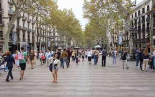 Ла Рамбла в Барселоне (15 фото, описание, информация, карта-схема)