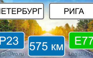 Сколько км от Санкт-Петербурга до Риги: на машине, самолете