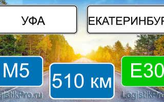 Сколько км от Екатеринбурга до Уфы? (на машине, поезде, самолете)