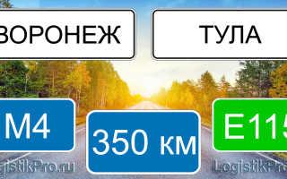 Сколько км от Воронежа до Тулы? (на машине, поезде)