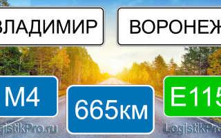 Сколько км от Воронежа до Владимира: на машине, поезде