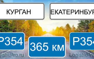 Сколько км от Екатеринбурга до Кургана? (на машине, поезде)