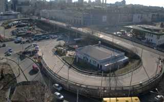 Шулявский мост на карте Киева
