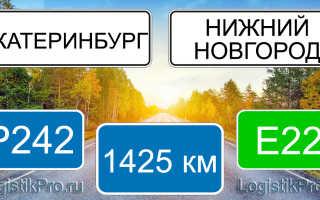 Сколько км от Нижнего Новгорода до Екатеринбурга? (на машине, поезде, самолете)