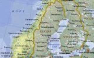 Норвегия на карте мира (карта Норвегии на русском языке)
