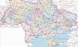 Украина на карте мира (карта Украины с городами и областями)