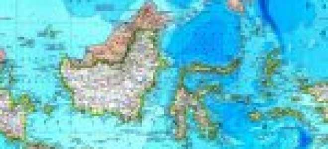 Индонезия на карте мира (карта Индонезии на русском языке)