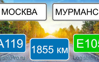 Сколько км от Москвы до Мурманска? (на машине, поезде, самолете)