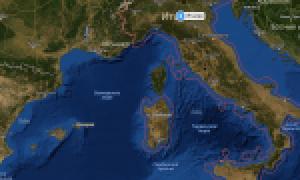 Италия на карте мира (карта Италии на русском языке)