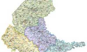 Прикарпатье, Карпатские горы, Закарпатье (карта)