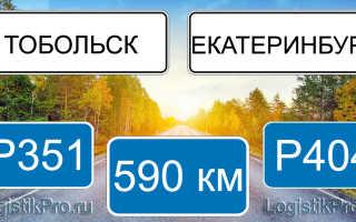 Сколько км от Екатеринбурга до Тобольска: на машине, поезде