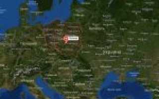 Польша на карте мира (карта Польши на русском языке)