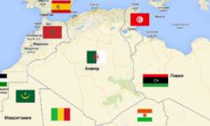 Алжир на карте мира (карта Алжира на русском языке)