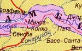 Где находится Гамбия (на карте, координаты)