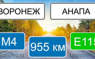 Сколько км от Воронежа до Анапы: на машине, поезде, самолете