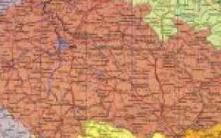 Чехия на карте мира (карта Чехии на русском языке)