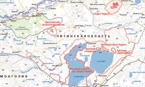 Где находится Даурский заповедник (на карте, координаты)