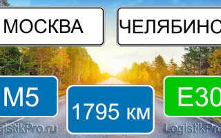 Сколько км от Москвы до Челябинска? (на машине, поезде, самолете)