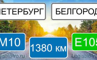 Сколько км от Санкт-Петербурга до Белгорода: на машине, поезде