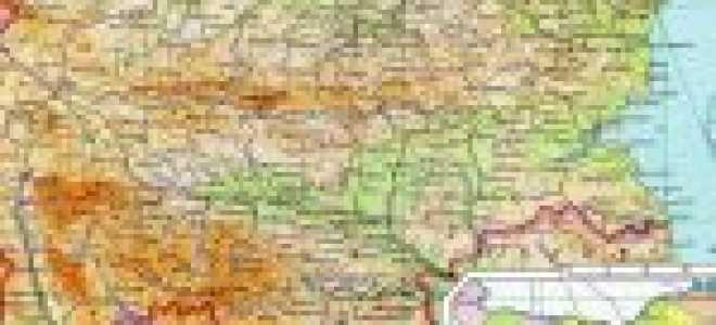 Подробная карта побережья Болгарии на русском языке