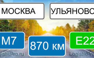 Сколько км от Москвы до Ульяновска? (на машине, поезде, самолете)