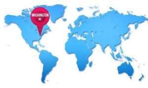 Географические координаты Вашингтона (широта и долгота)